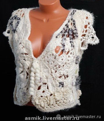 Knitted vest 'snowflake', Vests, Moscow,  Фото №1