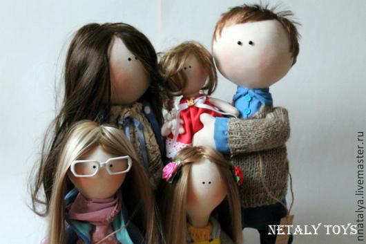 Куклы тыквоголовки ручной работы. Ярмарка Мастеров - ручная работа. Купить Семья. Handmade. Бежевый, кукла в подарок, коллекционные игрушки