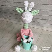 Куклы и игрушки ручной работы. Ярмарка Мастеров - ручная работа Жирафик нежный. Handmade.
