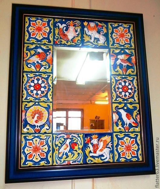 """Зеркала ручной работы. Ярмарка Мастеров - ручная работа. Купить зеркало: """" Былина"""". Handmade. Украшение для интерьера, дизайнерская работа"""