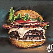 Картины и панно handmade. Livemaster - original item Burger - king-frills. Handmade.