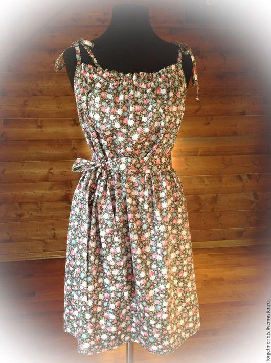 """Платья ручной работы. Ярмарка Мастеров - ручная работа. Купить Сарафан из хлопка """"Цветущий луг"""". Handmade. Разноцветный, платье из хлопка"""