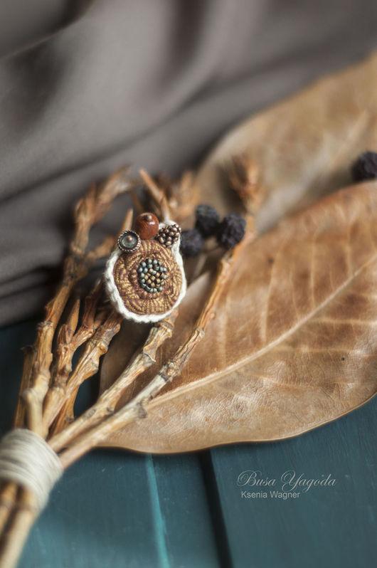 """Кольца ручной работы. Ярмарка Мастеров - ручная работа. Купить Кольцо """"Осеннее"""". Handmade. Коричневый, осення гамма"""