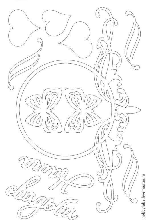 Открытки и скрапбукинг ручной работы. Ярмарка Мастеров - ручная работа. Купить Набор чипборда Свадебные рамки. Handmade. Набор чипборда