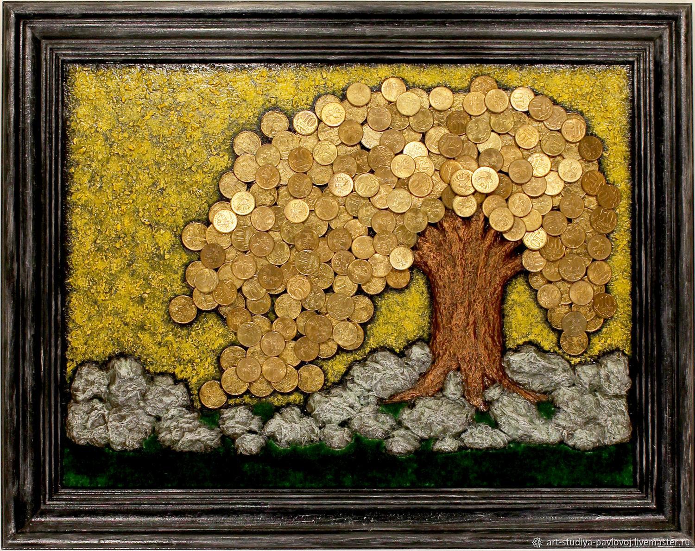 Панно денежное дерево, Панно, Москва,  Фото №1