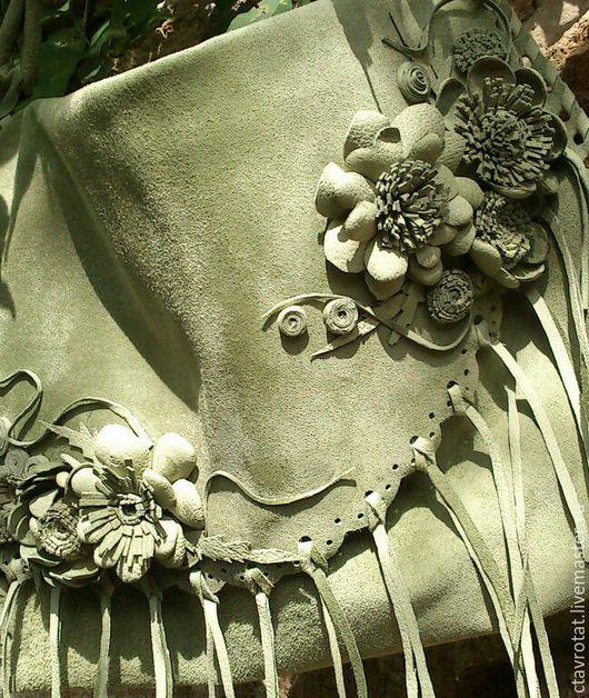 Женские сумки ручной работы. Ярмарка Мастеров - ручная работа. Купить сумка из замши. Handmade. Оливковый, Замша натуральная