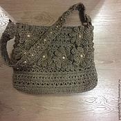 Сумка -торба в бохо стиле из джута