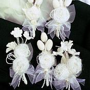 Свадебный салон ручной работы. Ярмарка Мастеров - ручная работа Бутоньерки для жениха. Handmade.