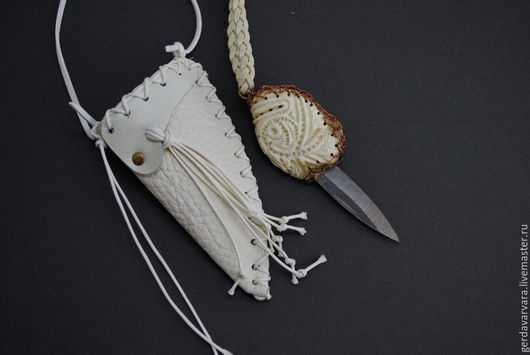 Подарки для мужчин, ручной работы. Ярмарка Мастеров - ручная работа. Купить Нож Коготь (резная кость) в ножнах. Handmade. Нож