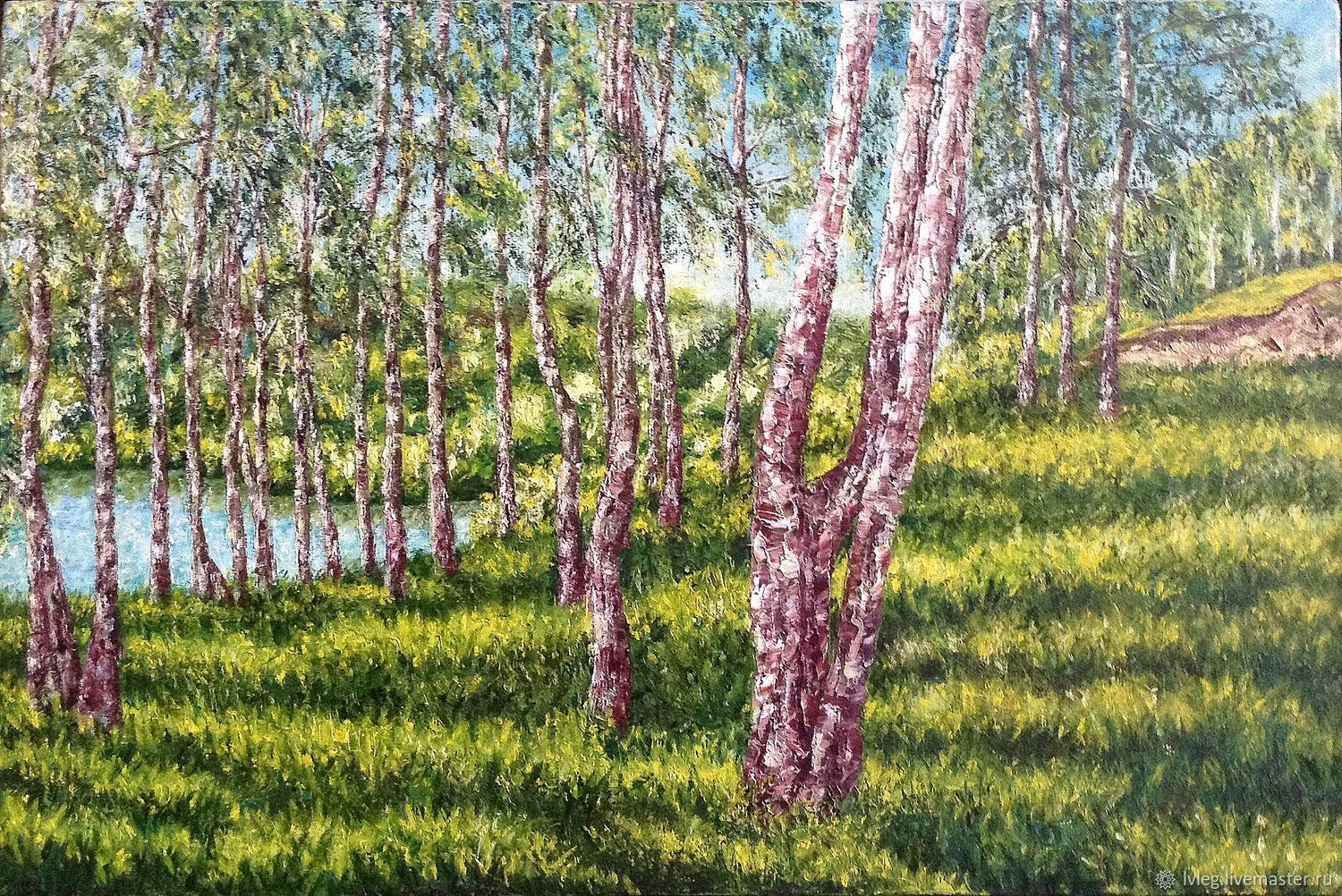 Oil painting 'Spring on the river'. oil on canvas landscape, Pictures, Chelyabinsk, Фото №1