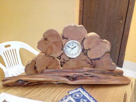 Часы для дома ручной работы. Ярмарка Мастеров - ручная работа. Купить Часики каминные. Handmade. Коричневый, часы ручной работы