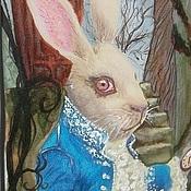 """Галстуки ручной работы. Ярмарка Мастеров - ручная работа Галстук """" Белый кролик"""". Handmade."""