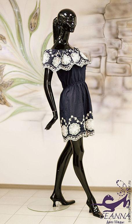 """Платья ручной работы. Ярмарка Мастеров - ручная работа. Купить Платье с вышивкой ришелье """"Летняя красотка"""" в любом цвете на заказ. Handmade."""