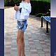 Брюки, шорты ручной работы. шорты джинсовые джинсы Янтарь. Ирина Когут. Ярмарка Мастеров. Янтарь натуральный, джинс