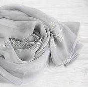 Аксессуары handmade. Livemaster - original item Silk double-sided scarf from Chanel fabric