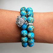 Украшения handmade. Livemaster - original item Marine set of bracelets made of variscite. Handmade.