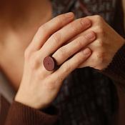 """Украшения ручной работы. Ярмарка Мастеров - ручная работа Перстень из дерева """"Точка"""". Handmade."""