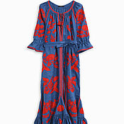 Одежда handmade. Livemaster - original item Embroidered linen dress Embroidered Linen Boho dress. Handmade.