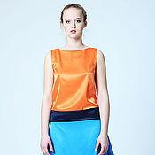 """Одежда ручной работы. Ярмарка Мастеров - ручная работа Платье """"С двумя хвостами"""" оранжевое. Handmade."""