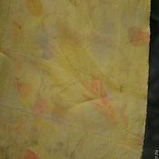 """Аксессуары ручной работы. Ярмарка Мастеров - ручная работа Шарф шелковый-шифон  """"Sunny """", в эко стиле.. Handmade."""