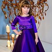 Работы для детей, ручной работы. Ярмарка Мастеров - ручная работа Виолетта нарядное платье. Handmade.