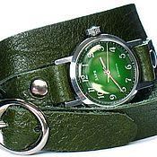 Украшения ручной работы. Ярмарка Мастеров - ручная работа кожаные браслеты для часов в 2-3 оборота. Handmade.