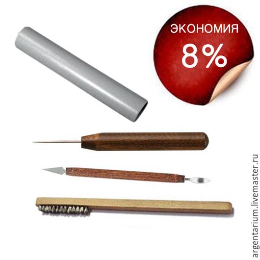 Другие виды рукоделия ручной работы. Ярмарка Мастеров - ручная работа. Купить Комбо-набор для работы с серебряной глиной №2. Handmade.