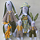 Куклы Тильды ручной работы. Ярмарка Мастеров - ручная работа. Купить счастливая семья. Handmade. Желтый, кролик ТИЛЬДА, тесьма