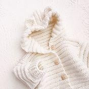 Работы для детей, handmade. Livemaster - original item Baby jumpsuit on discharge ivory color. Handmade.