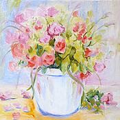 """Картины и панно ручной работы. Ярмарка Мастеров - ручная работа Картина """"Нежные розы"""". Handmade."""