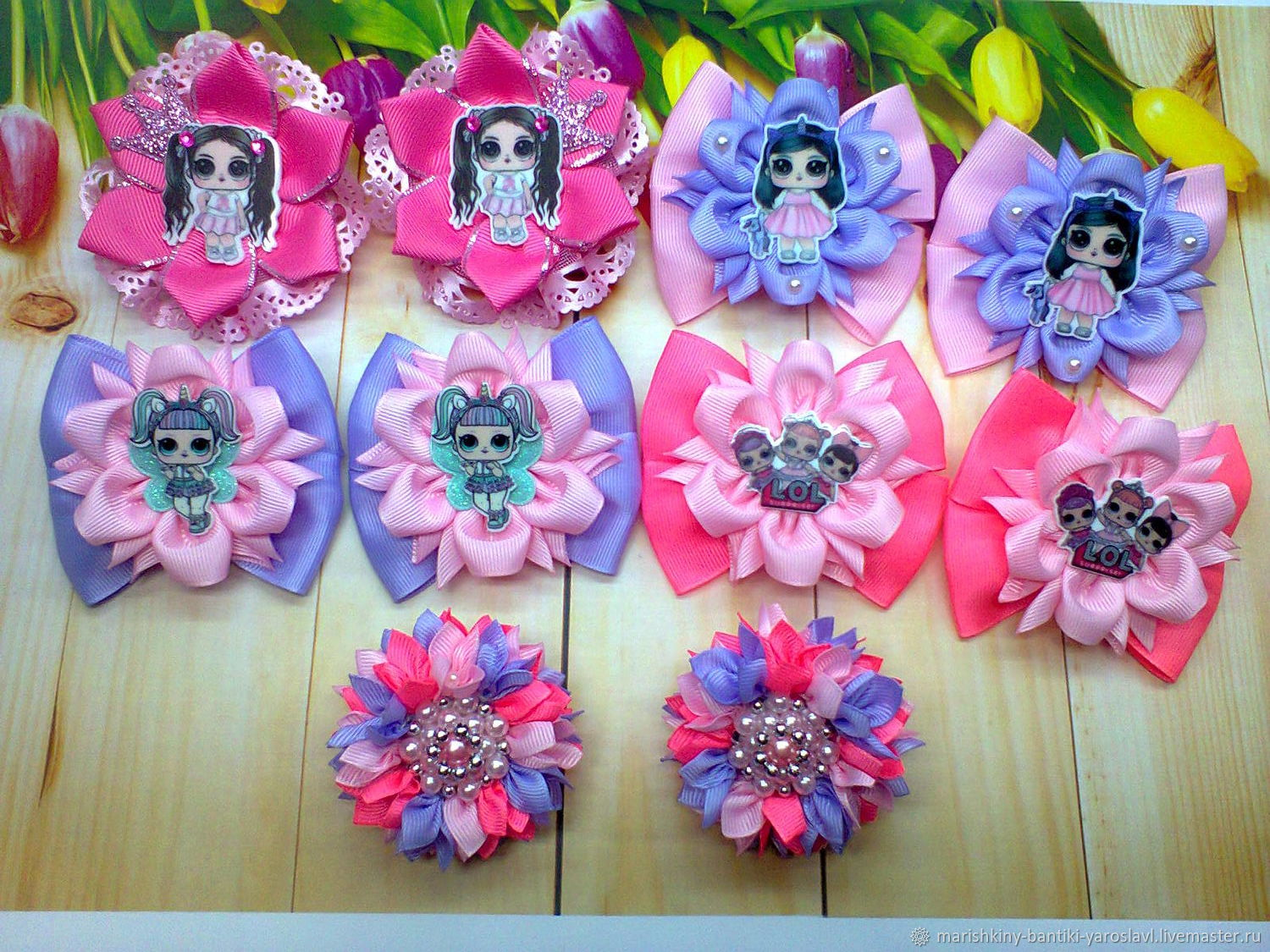 """Резиночки """"Куколки Лол на цветке"""" в ассортименте, Резинка для волос, Гаврилов Ям,  Фото №1"""