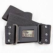 Аксессуары handmade. Livemaster - original item AG_026 Strap-elastic band with buckle, width 4,5 cm, black. Handmade.