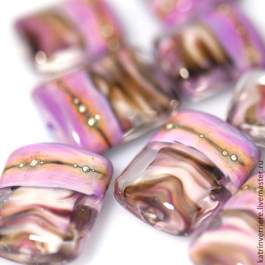 """Для украшений ручной работы. Ярмарка Мастеров - ручная работа. Купить Бусины """"Бриз"""". Handmade. Розовый, закат, для украшений"""