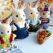 Куклы и игрушки ручной работы. Ярмарка Мастеров - ручная работа Набор одежды для Sylvanian famlies - Жили-были кролики. Handmade.