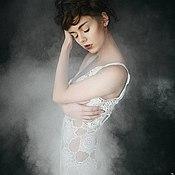 Свадебный салон ручной работы. Ярмарка Мастеров - ручная работа Вязаное свадебное платье. Handmade.