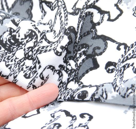 Шитье ручной работы. Ярмарка Мастеров - ручная работа. Купить Ткань трикотаж хлопок с вискозой, для шитья одежды, платьев. Handmade.
