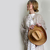 """ручной работы. Ярмарка Мастеров - ручная работа Летнее вязаное ажурное пльто """" Сара"""". Handmade."""
