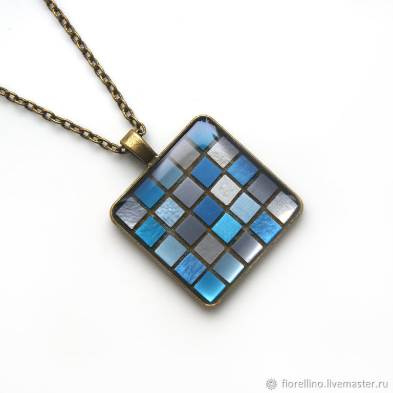 Pendant Mosaic gray-blue color, Pendant, Moscow,  Фото №1