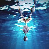Украшения ручной работы. Ярмарка Мастеров - ручная работа Ожерелье В синем море. Handmade.