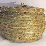 Для дома и интерьера ручной работы. Ярмарка Мастеров - ручная работа Хлебница конфетница из луговых трав. Handmade.