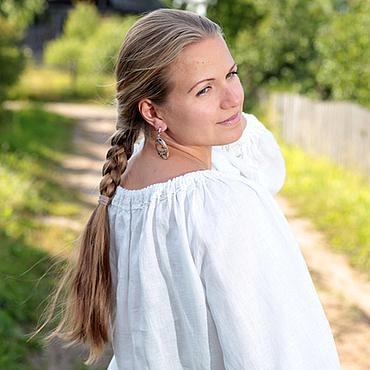 Одежда ручной работы. Ярмарка Мастеров - ручная работа Костюм белый лён блуза и юбка. Handmade.