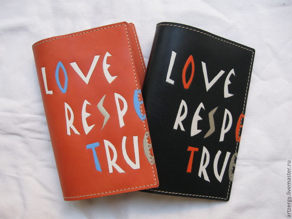 matching covers for passport 'Love, Respect, Loyalty', Set, Moscow,  Фото №1
