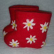 """Обувь ручной работы. Ярмарка Мастеров - ручная работа валеночки детские """"Лето"""". Handmade."""
