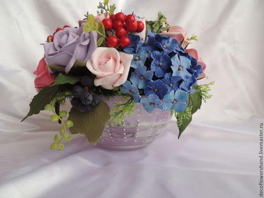 Цветы ручной работы. Ярмарка Мастеров - ручная работа. Купить Букет с розами и пионами. Handmade. Букет цветов, подарок женщине