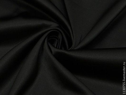 Шитье ручной работы. Ярмарка Мастеров - ручная работа. Купить ткань сатин костюмный черный со стрейчем. Handmade. Ткань