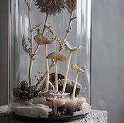 """Для дома и интерьера ручной работы. Ярмарка Мастеров - ручная работа Флорариум грибной искусственный """"Песчаный"""". Handmade."""