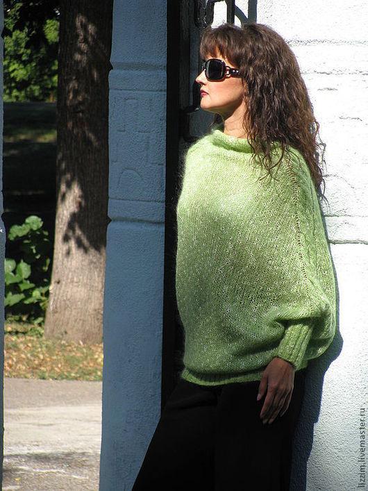 """Кофты и свитера ручной работы. Ярмарка Мастеров - ручная работа. Купить Свитер  """"Феерия"""". Handmade. Свитер, теплый свитер, зеленый"""