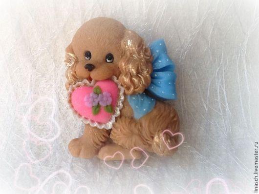 Мыло ручной работы. Ярмарка Мастеров - ручная работа. Купить Собачка с сердечком. Handmade. Коричневый, мыло, сувениры и подарки, подарок