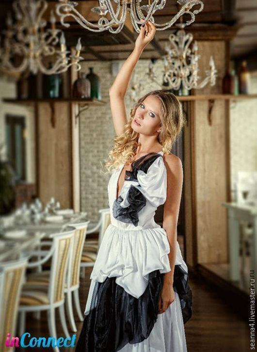 """Платья ручной работы. Ярмарка Мастеров - ручная работа. Купить Платье """"Пена"""". Handmade. Чёрно-белый, платье бальное"""