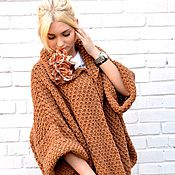 Одежда handmade. Livemaster - original item Jacket oversized knit,chunky
